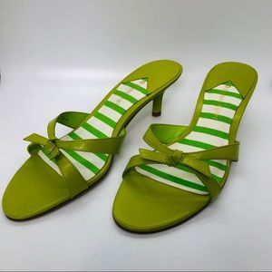 Lime green shoes by Etienne Aigner